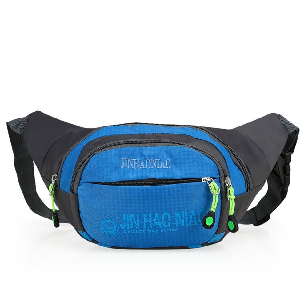 OpetHome Waterproof Nylon Running Hiking Camping Cycling Fanny Pack with 3 Zippers -- You can get additional details at the image link.