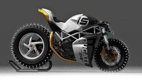 Master Snow and Ice with This Winter-Ready Ducati Monster   M A G   Scoop.it