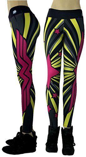 490ca21b55480b Wonder Woman Superhero Leggings Yoga Pants Compression Ti... | fun ...