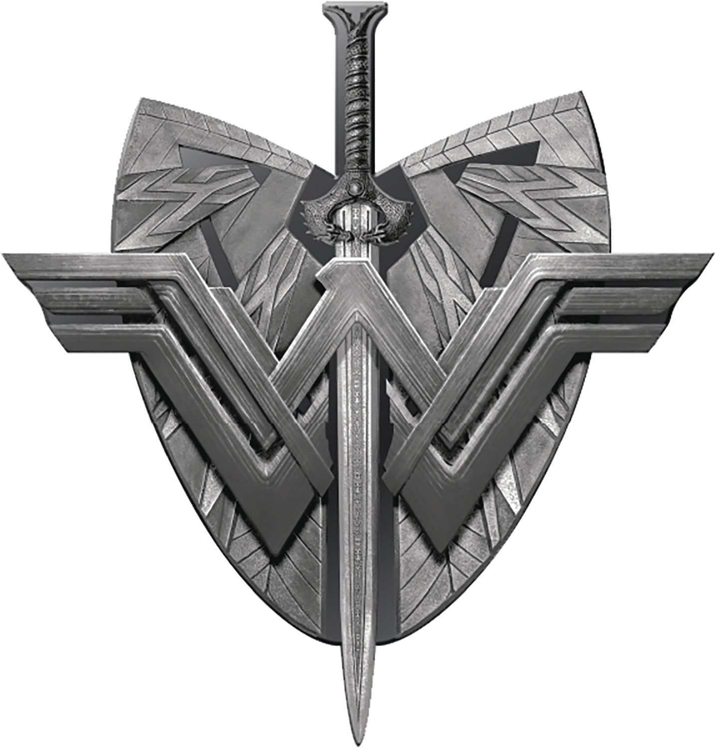 WONDER WOMAN MOVIE SHIELD & SWORD PEWTER LAPEL PIN