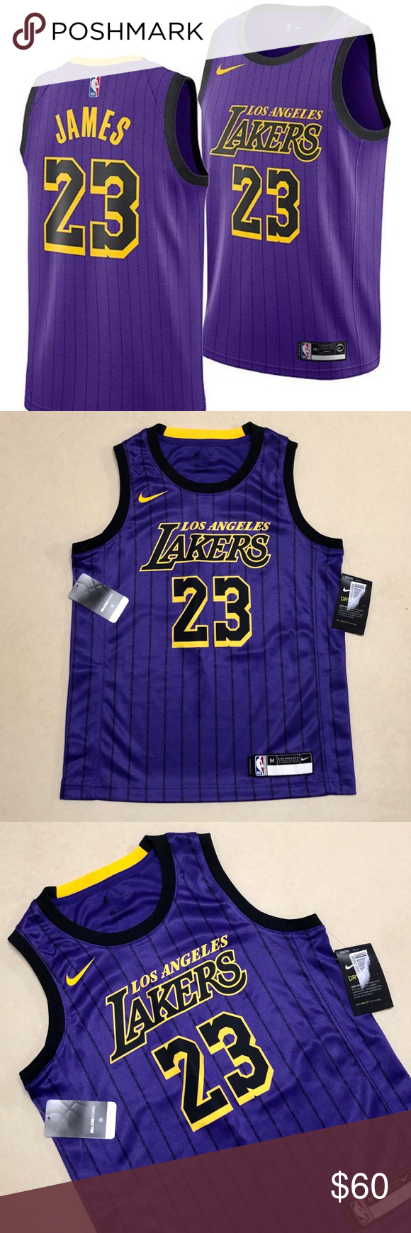new concept 17262 63361 LA Lakers - NEW Youth James City Edition Jersey Encourage ...