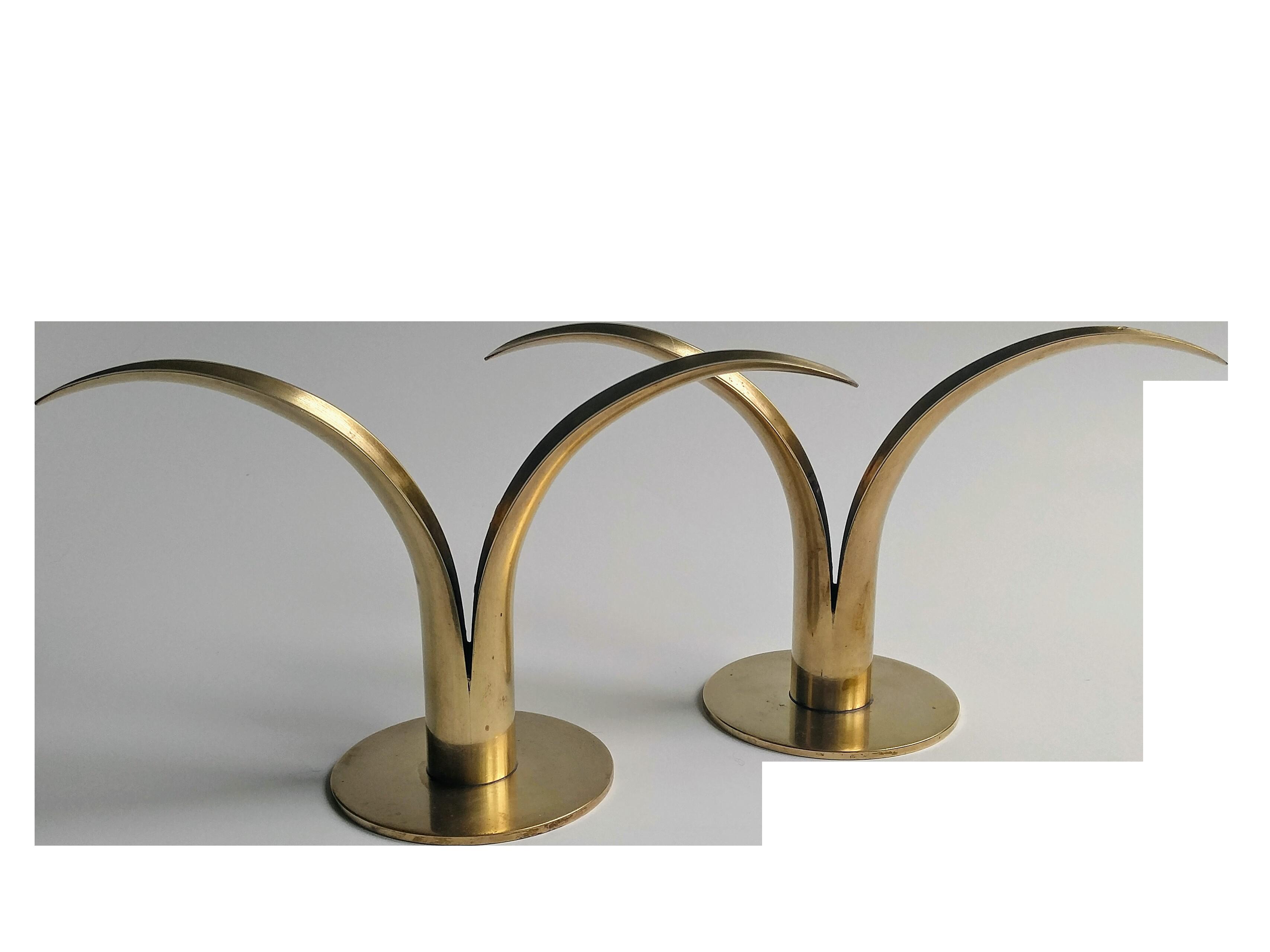 Midcentury ystad candle holders a pair mid century mid century