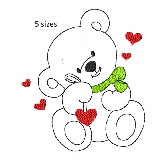 Bear Machine Embroidery Designcute Teddy Bearboy Etsy Dog Embroidery Designs Bear Quilts Embroidery Designs