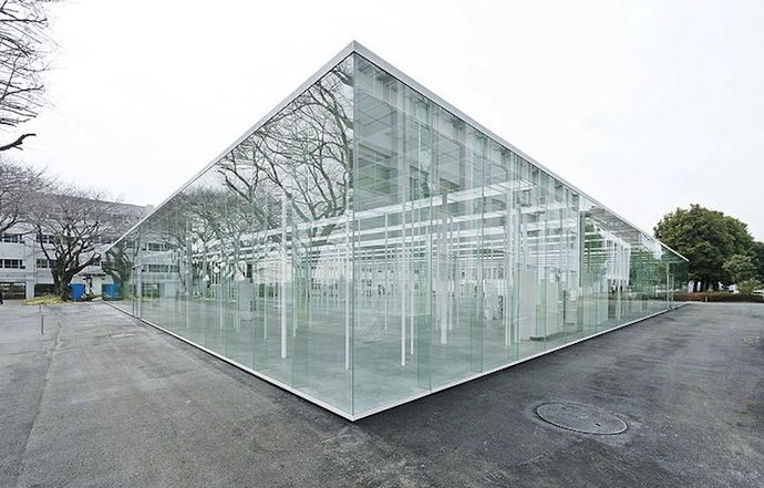 Modern Architecture Glass modern architecture: japanese school made of glass (7 photos