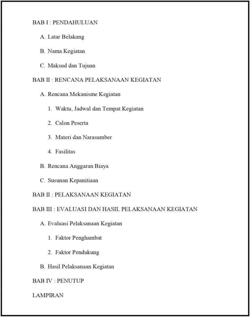 Contoh Laporan Pertanggungjawaban Lpj Kegiatan Tulisan Organisasi