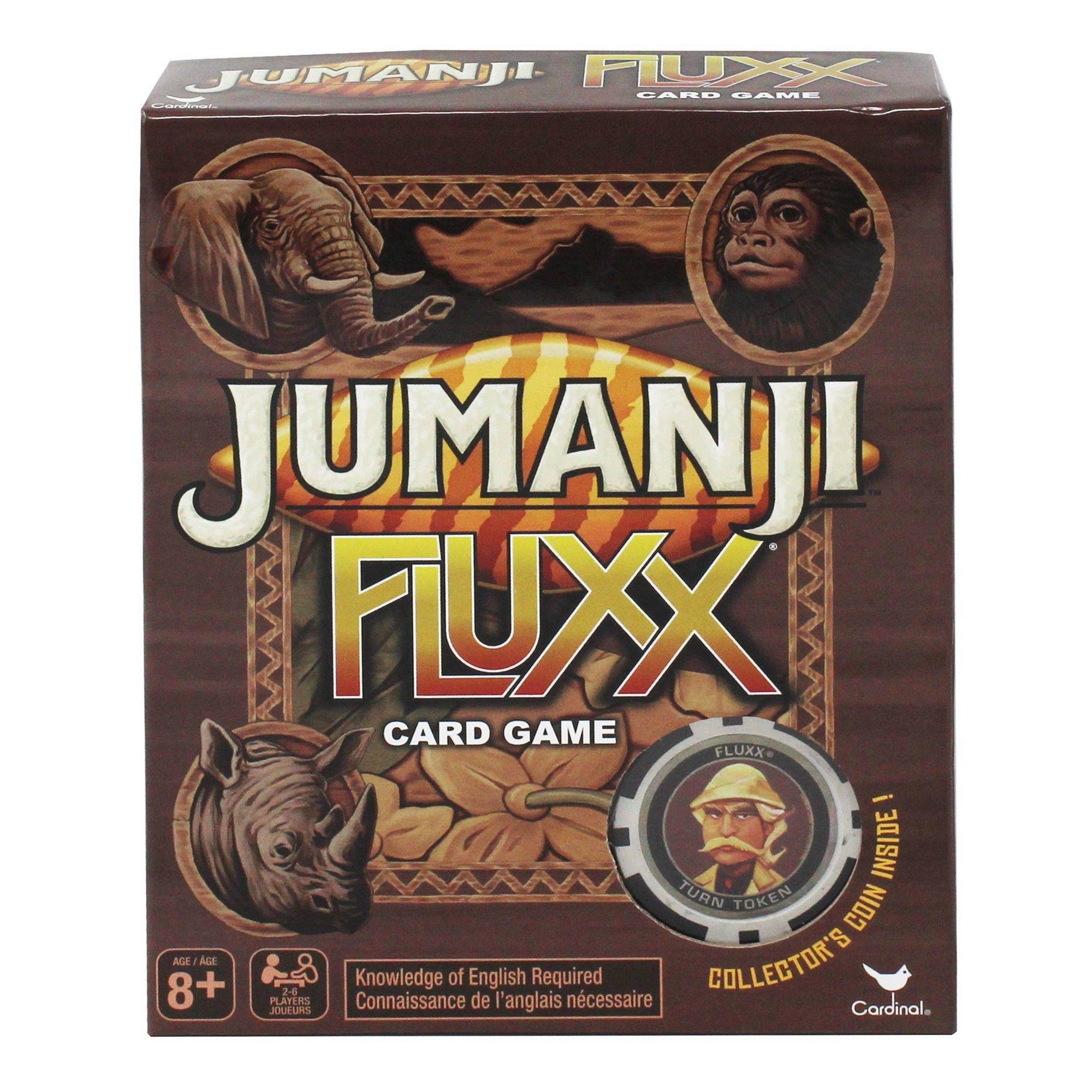 Jumanji Fluxx Card Game, card games Card games, Cards, Games
