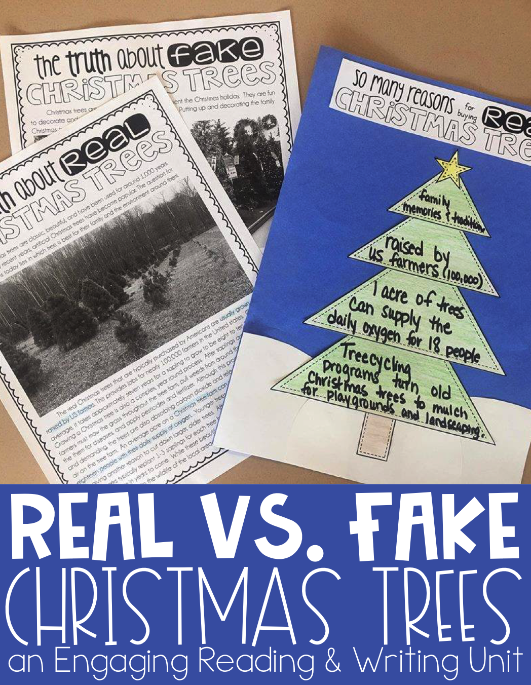 Real vs. Fake Christmas Trees {Paired Passages, Writing Prompt, and ...