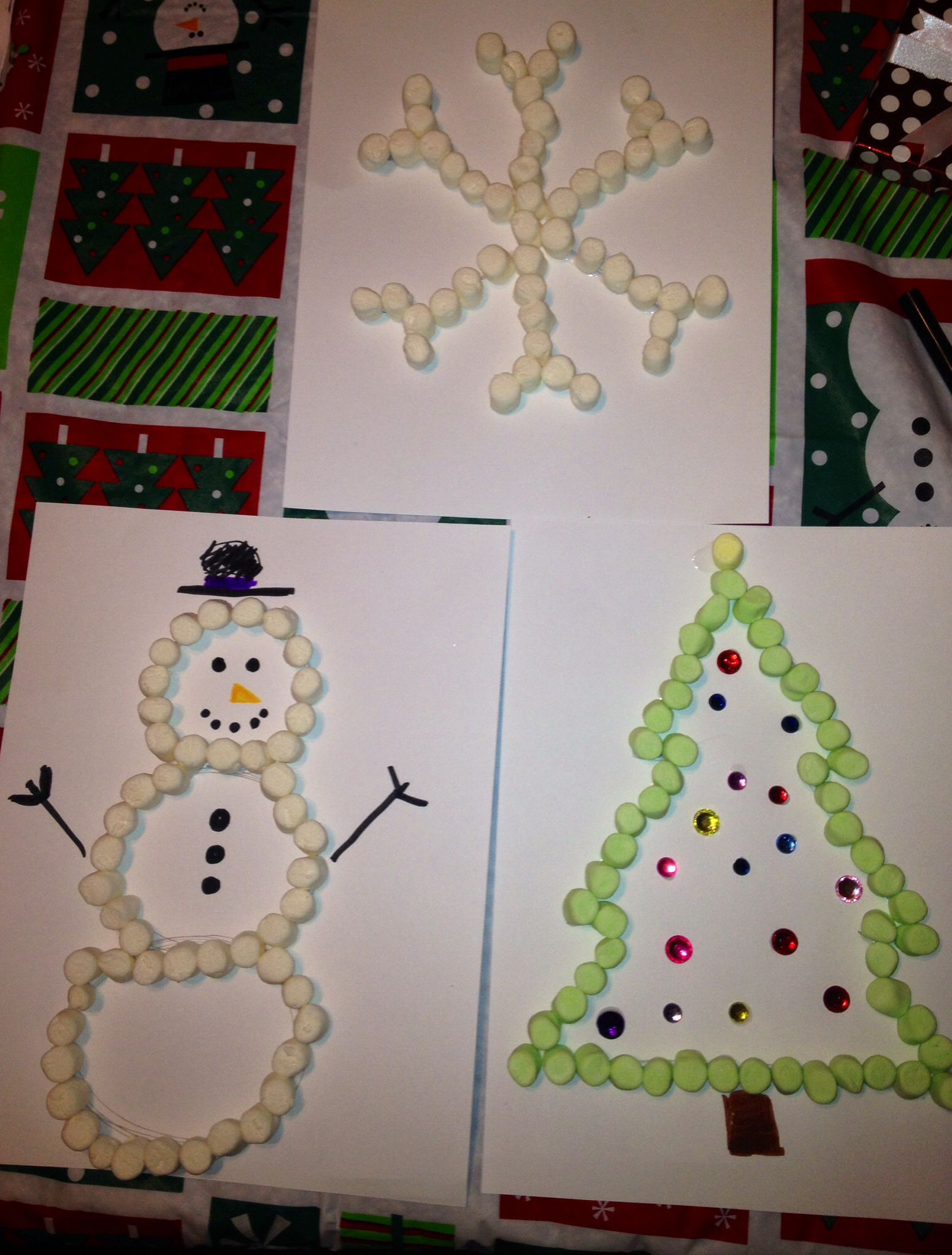 Marshmallow Christmas Crafts