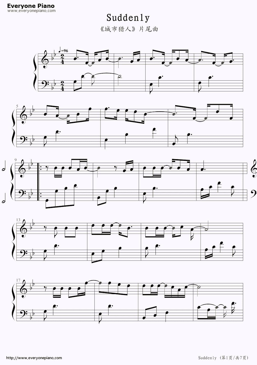 suddenly seymour sheet music free pdf