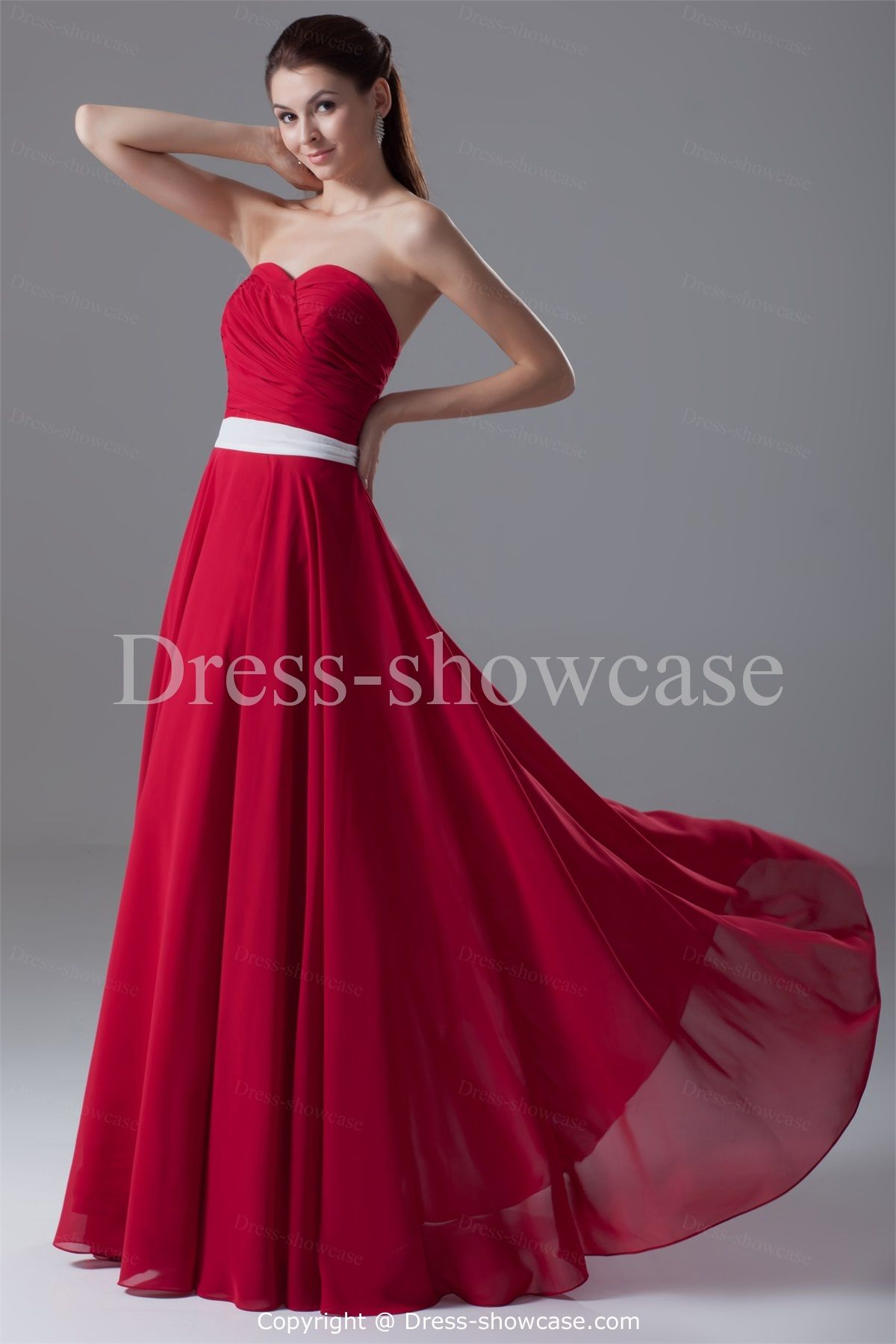 Apple red color bridesmaid dresses - Dress on sale