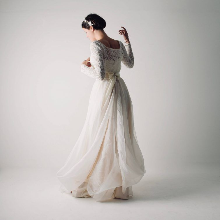 61c19e356c80 Nymphea ~ Silk organza wedding skirt in 2019 | • Bohemian Wedding ...