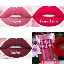 Hot 3pcs/lot Makeup Lime Velvetines Lip Gloss CUPID Liquid Lipstick Matte 3 Colors Optional TRUE LOVE SAINT Lipstick Women 2016(China (Mainland))