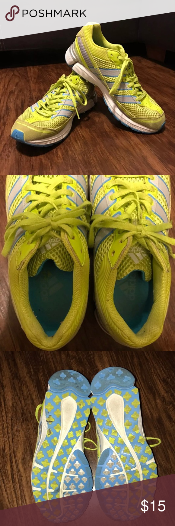 Adidas Tennis Shoes These have been loved. Some minor flaws but still in good condition. Only worn to work. Bottoms are still good and not worn down. adidas Shoes Athletic Shoes