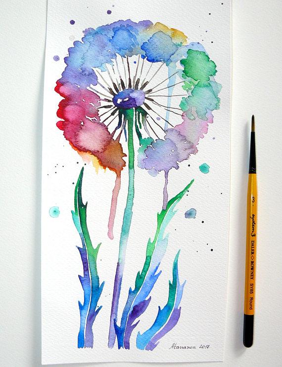 Abstrakte Blume Malerei Lowenzahn Blume Malerei Abstrakte Kunst
