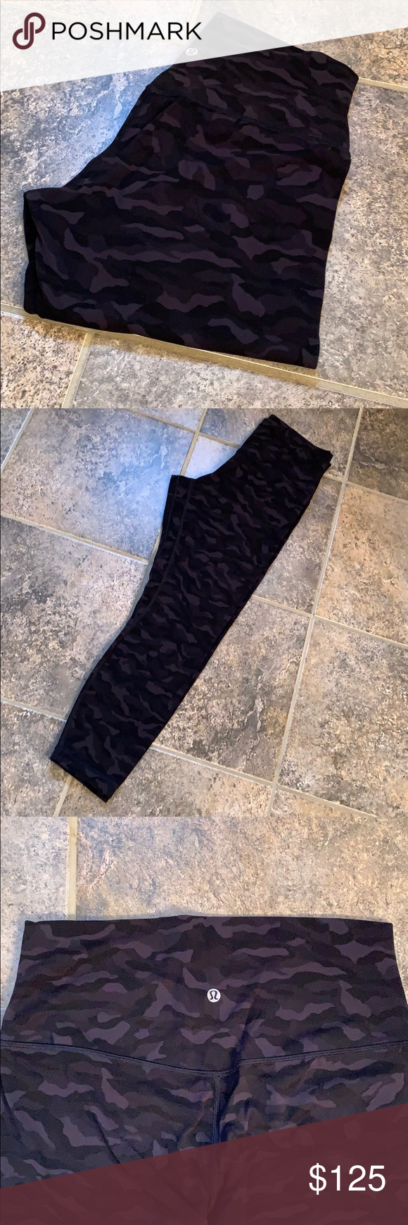 Lululemon Incognito Size 10 Black Grey Align Lululemon Rare Incognito Size 10 Black Grey Align 25 Inseam In Wo Black And Grey Leggings Are Not Pants Lululemon