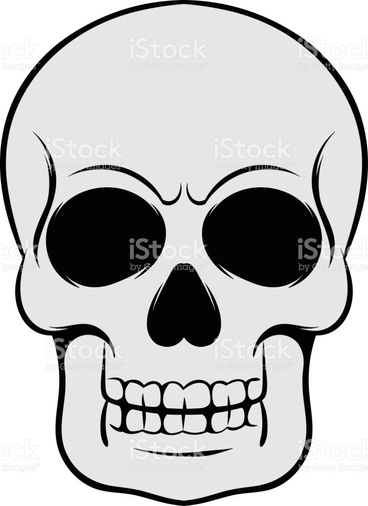 Skull Icon In Cartoon Style Isolated Vector Illustration Calaveras Dibujos Calaveras Dibujos