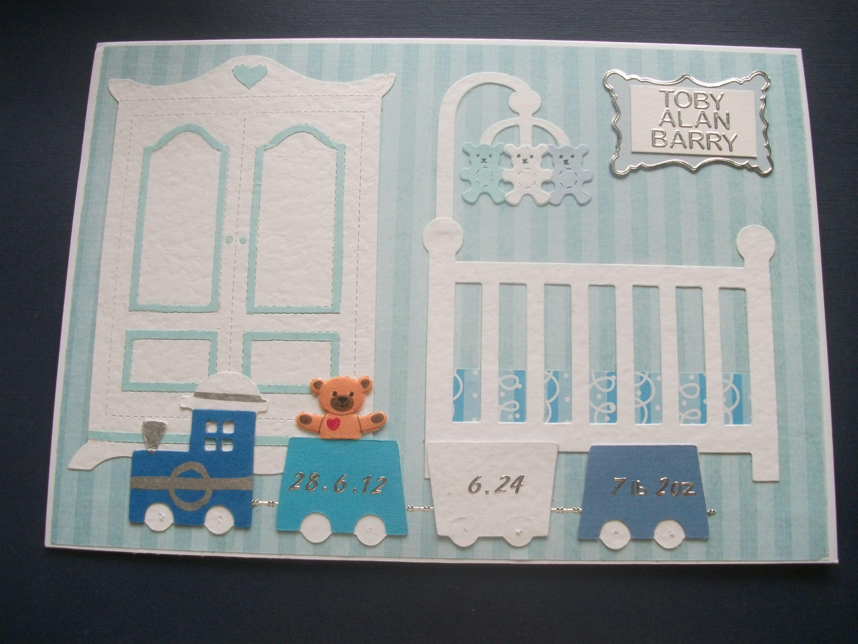 Card Making Ideas New Baby Boy Part - 24: New Baby Boy Card