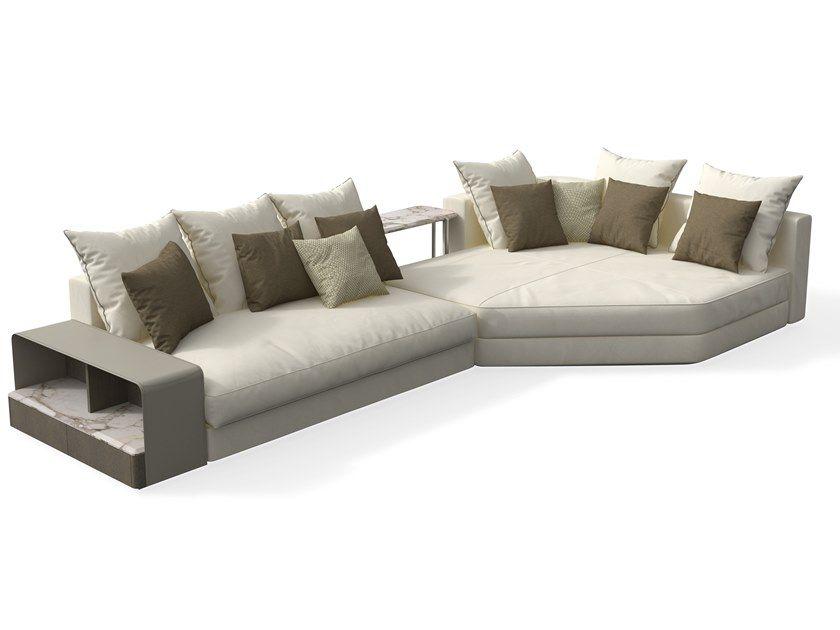 Skyline Sofa With Chaise Longue By Giorgetti Design Carlo Colombo Sofa Leather Sofa Sofa Furniture