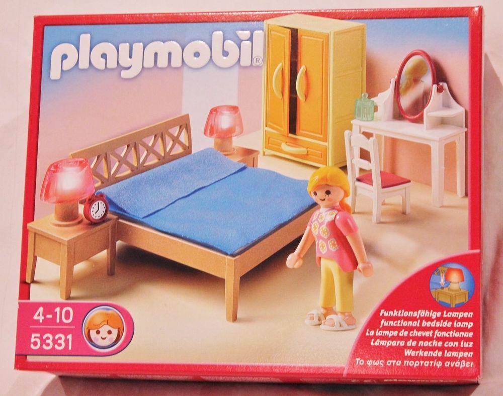 Bnib playmobil 5331 parents bedroom dollhouse furniture