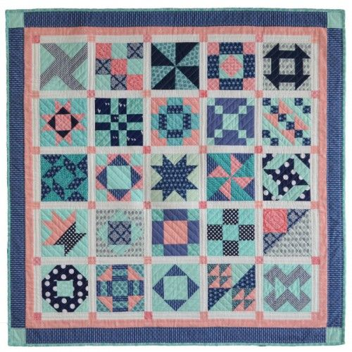 Make A Quick And Easy Sampler Quilt Quilting Digest Sampler Quilts Sampler Quilt Quilt Patterns Free