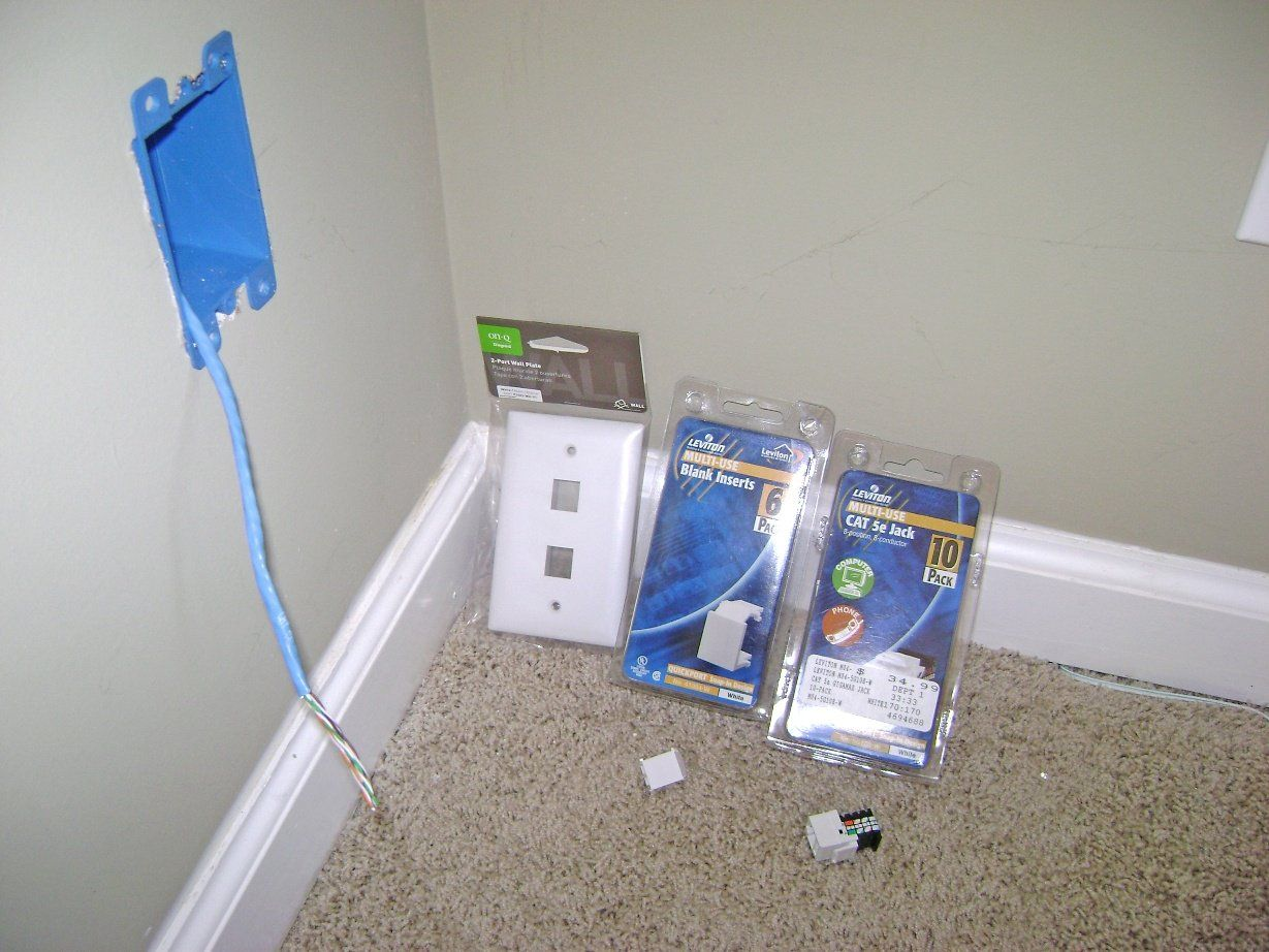 Ethernet Wall Jack Wiring Kit Diy Building Pinterest Drywall Network
