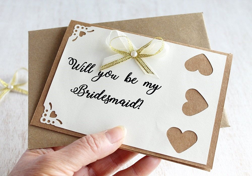 Bridesmaid Thank You Card Rustic Flower Girl Card Maid Of Honor