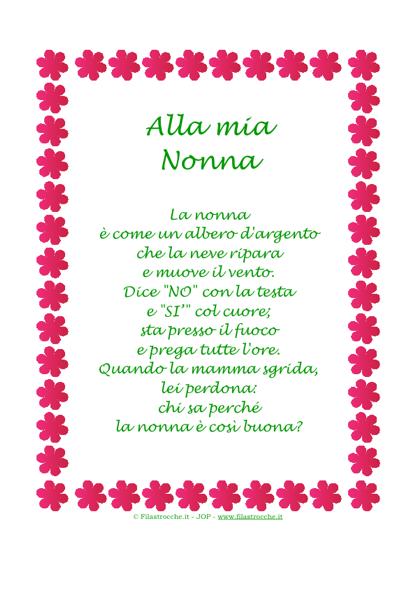 Bien connu poesia per la festa della nonna - Google Search | Poems  ZW71