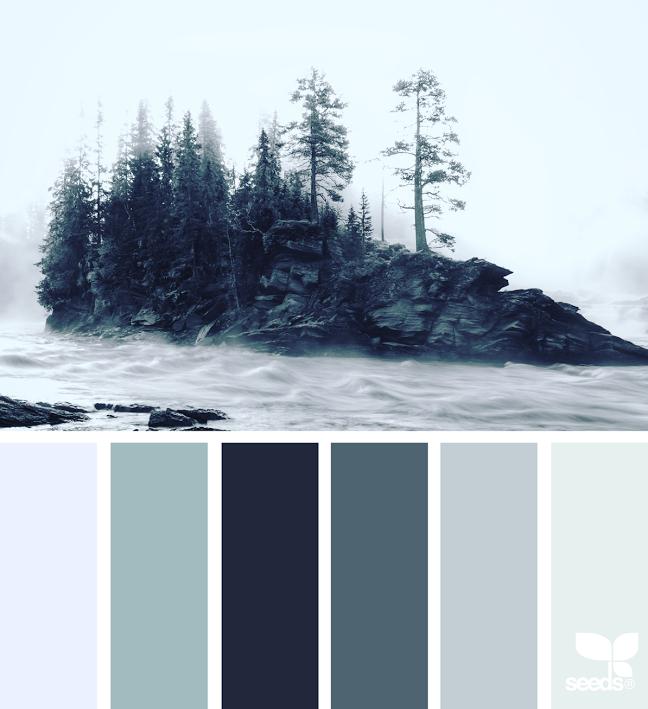 Winter Farbpaletten, Farbschemata Und