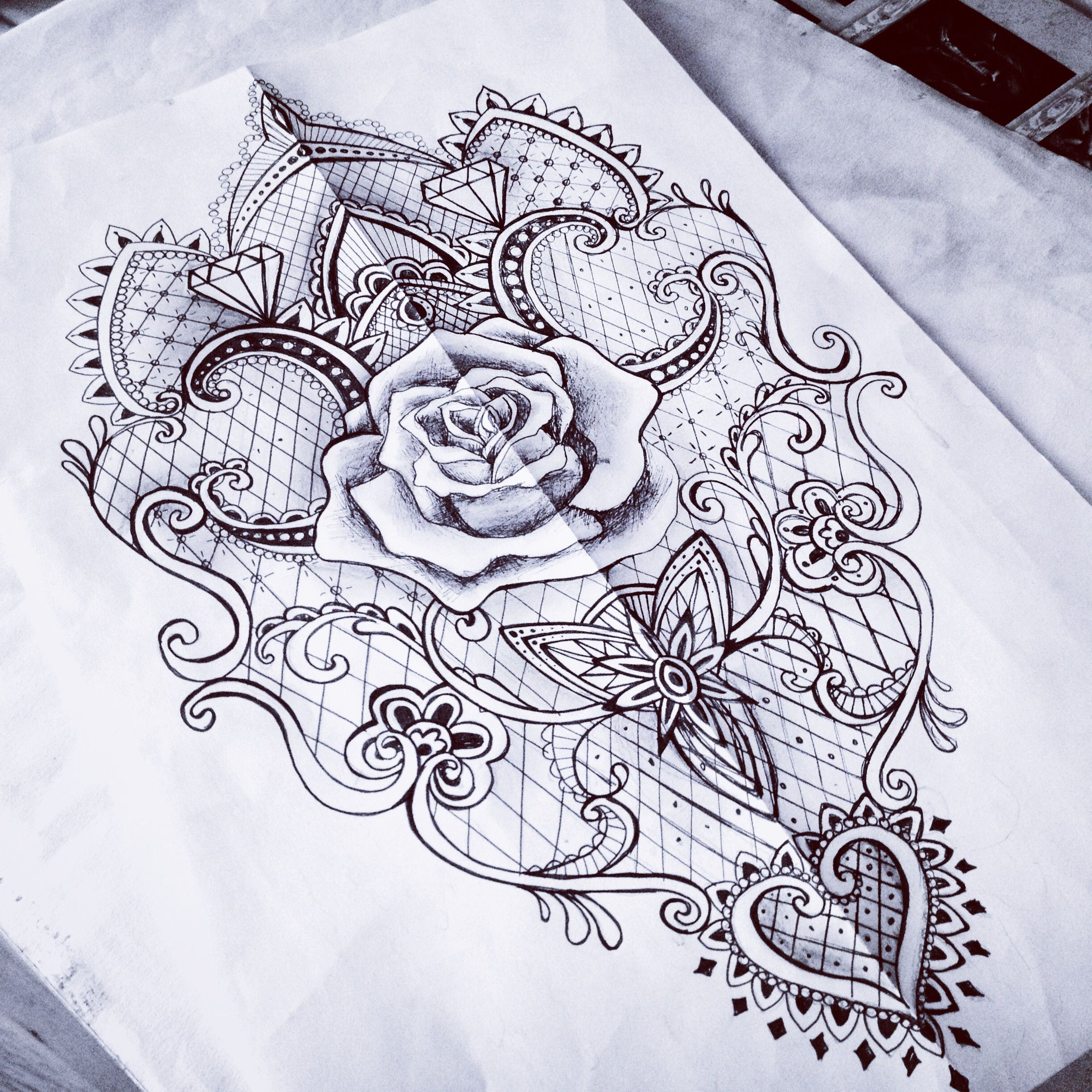 lace rose baroque mantra tattoo sketch woman something like this on your back tattoos. Black Bedroom Furniture Sets. Home Design Ideas