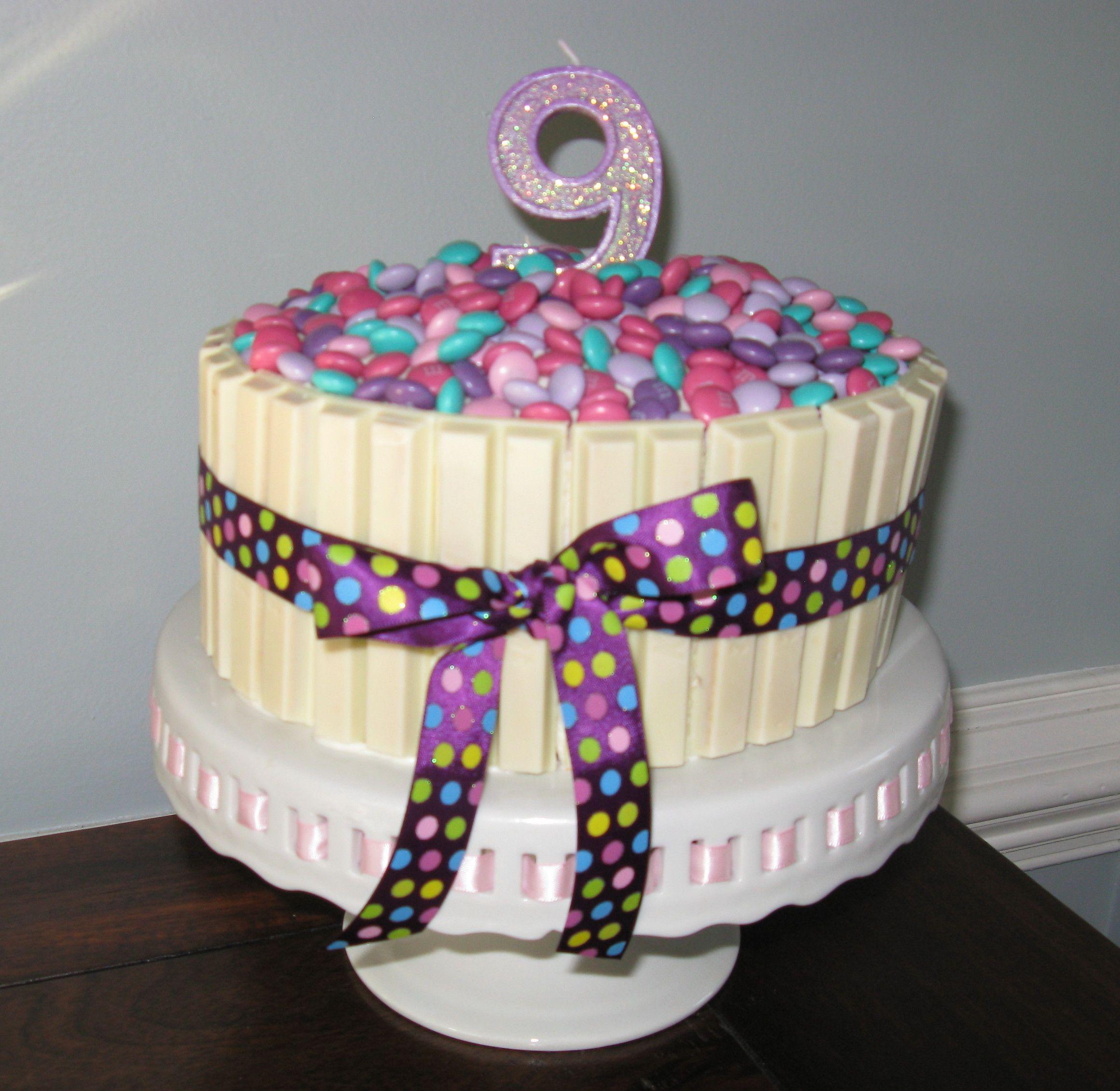 white kit kat cake add black liquorice pieces to make piano cake or