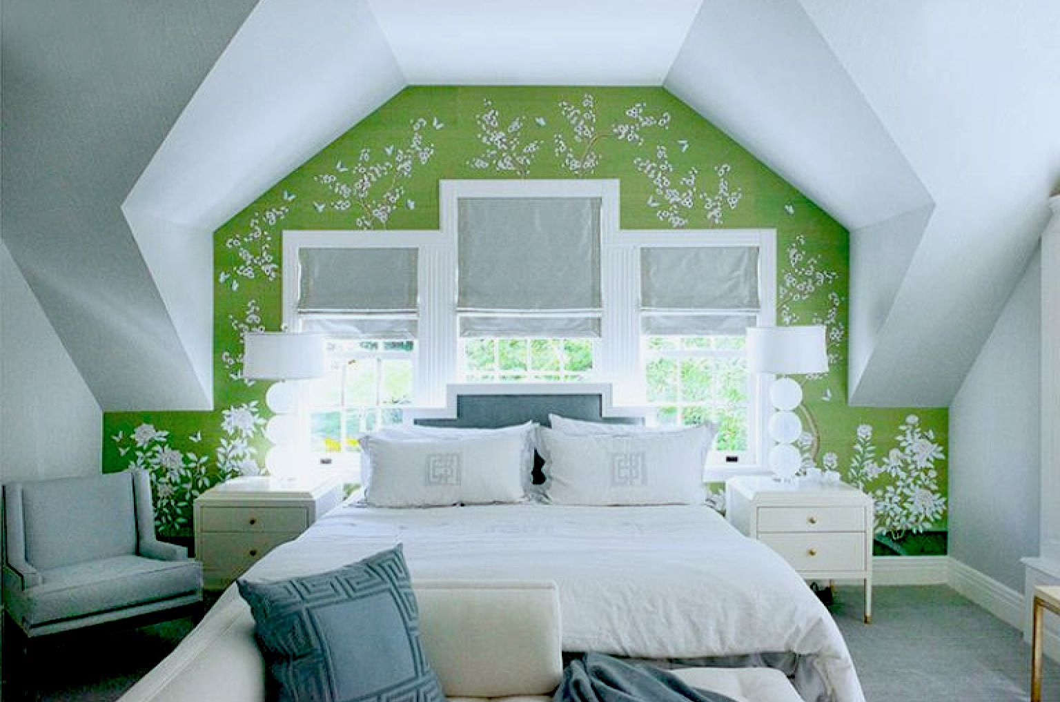 Feature wall in a dormer.