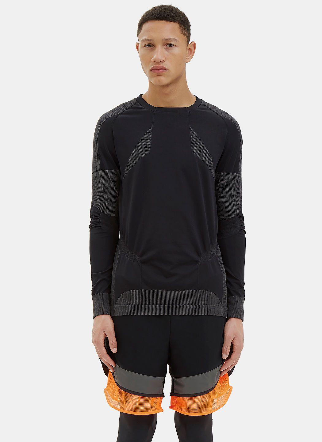 Men'S Warp Knit Top In Black