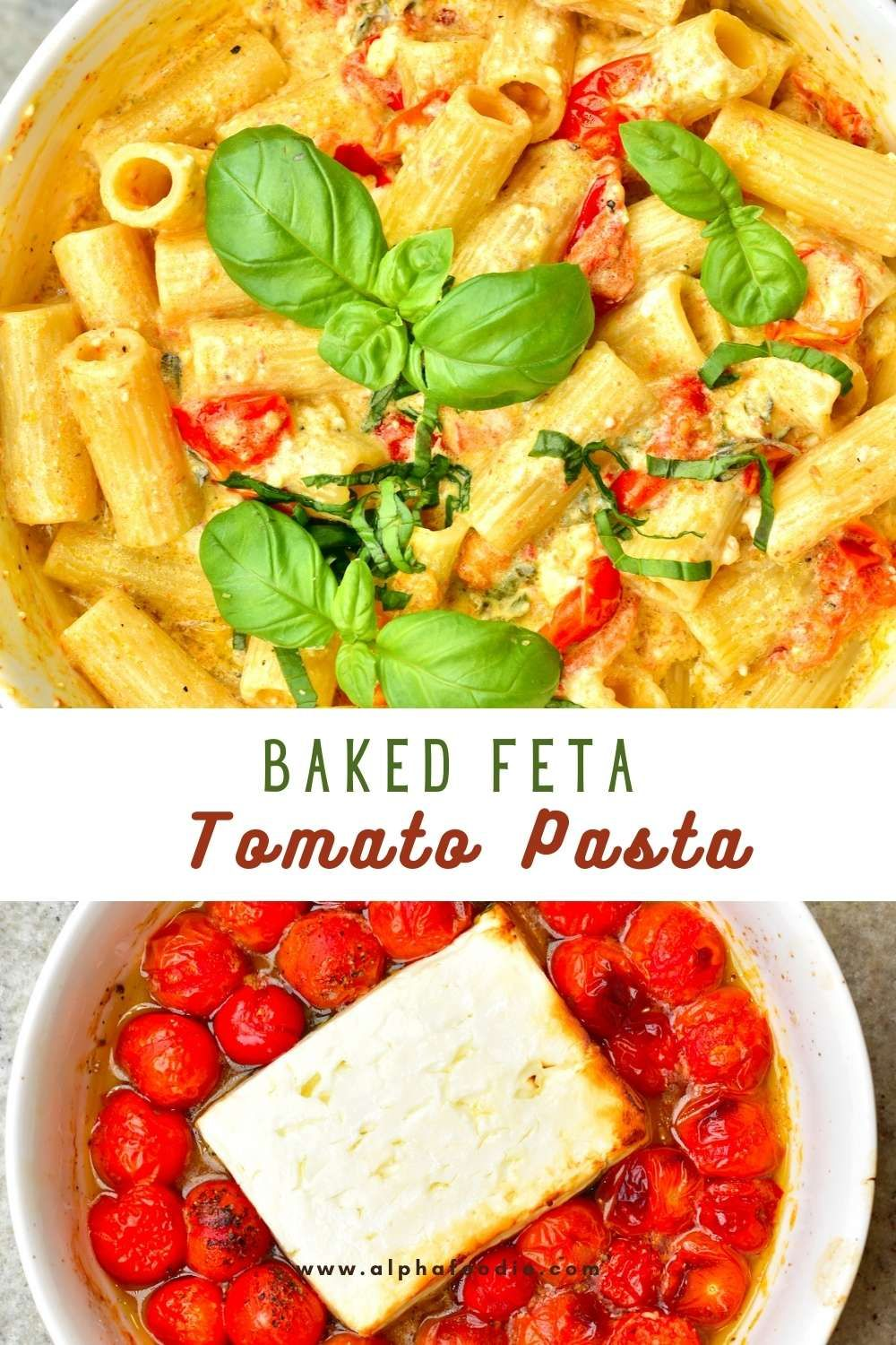 Baked Feta and Cherry Tomato Pasta