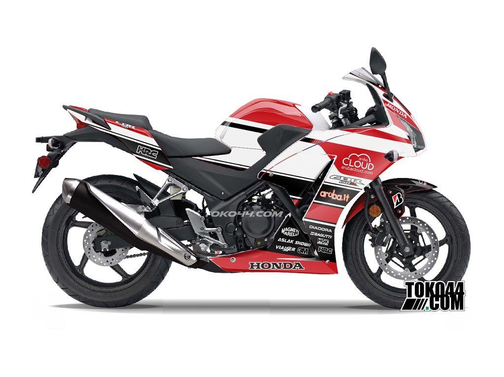 Decal Sticker Cbr 150 R Putih Stiker Modifikasi Honda Cbr