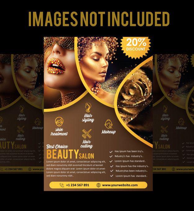 Brochure ou dépliant de salon Vecteur Pr... | Premium Vector #Freepik #vector #brochure #prospectus #nature #beaute