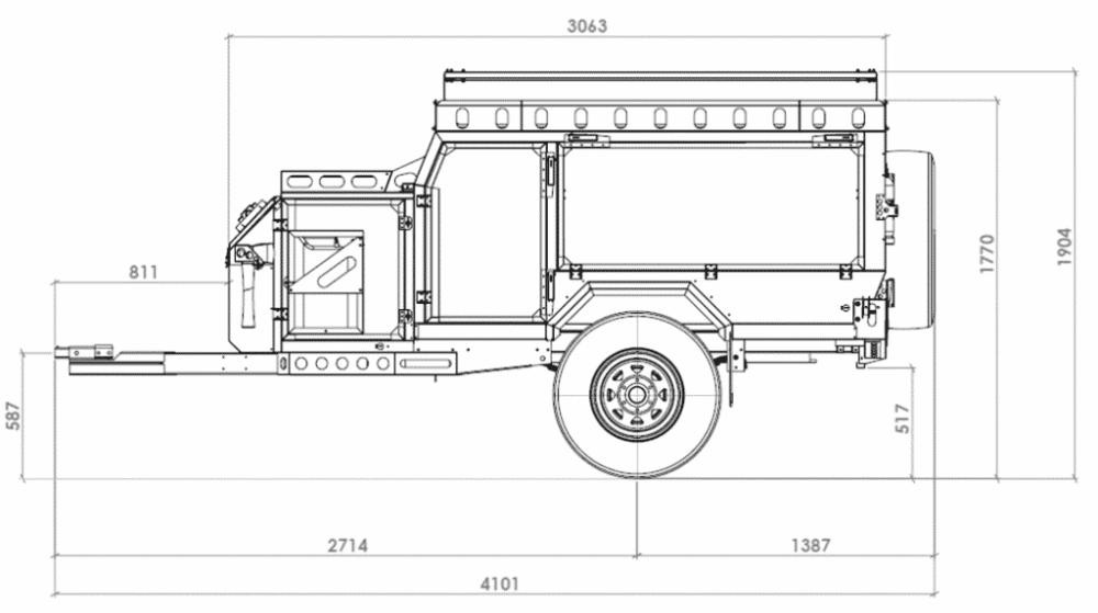 SemiTrailer Truck 40' WB Trucks, Parking design, Semi