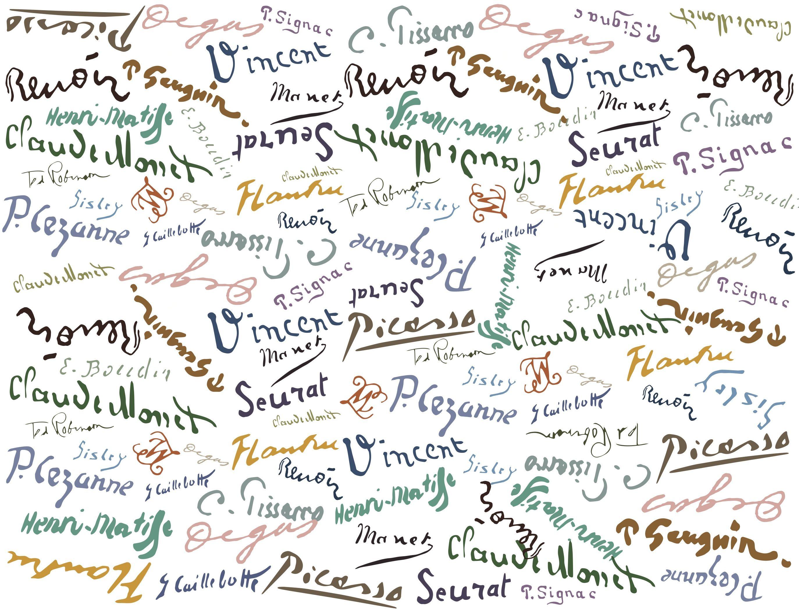 Firmas De Pintores Famosos 2747 2099 Pintoras Famosas