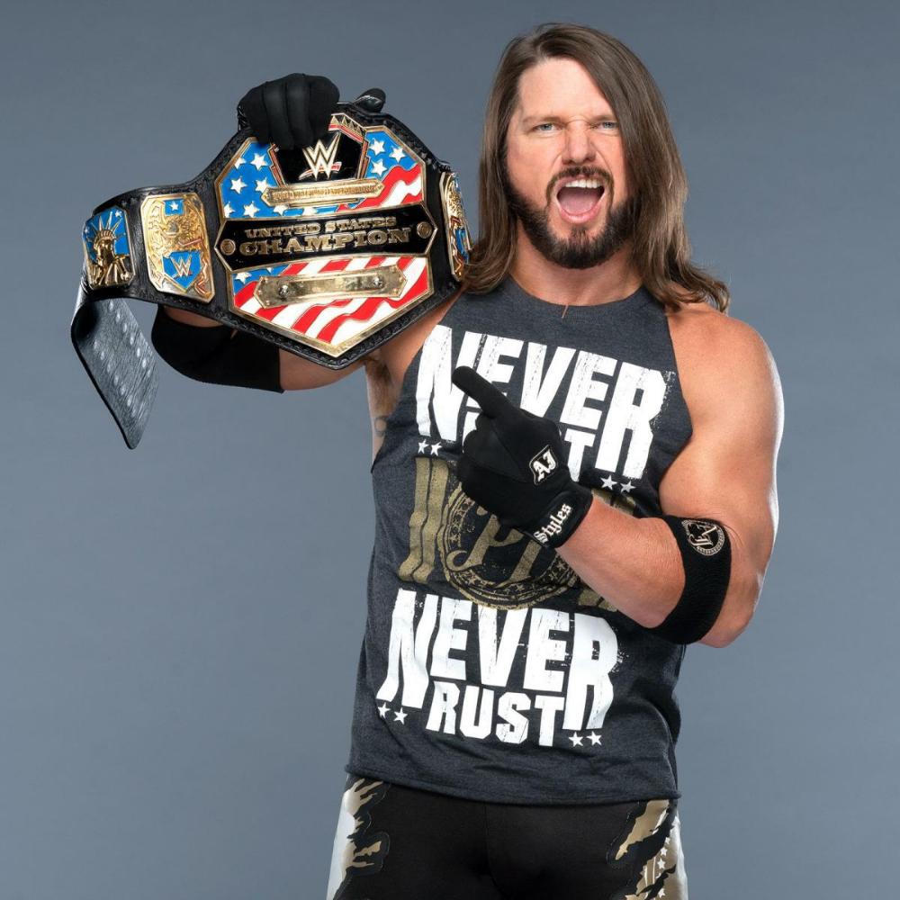 United States Champion Aj Styles Aj Styles Wwe Wrestling Wwe Aj Styles