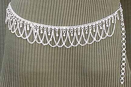 Waist Belly Chain Belly Dance Silver Coin Belt Design Q $29.99