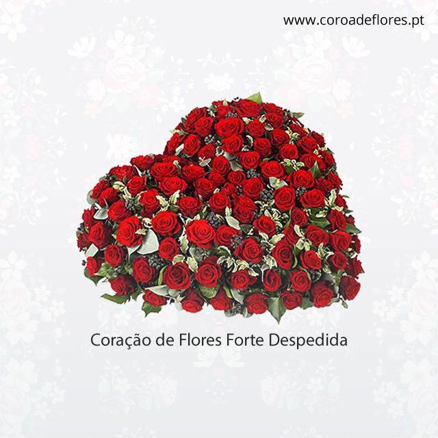 Coração de Flores Forte Despedida  #CoroaFlores #Flores #Rosas  http://ift.tt/1U00sY1