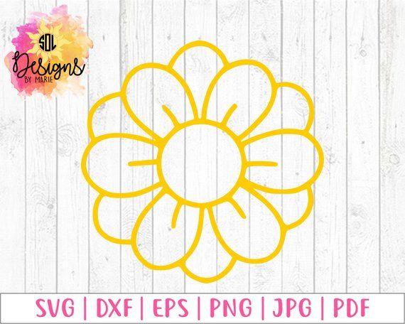 Daisy svg - flower - floral - svg file - daisy flower