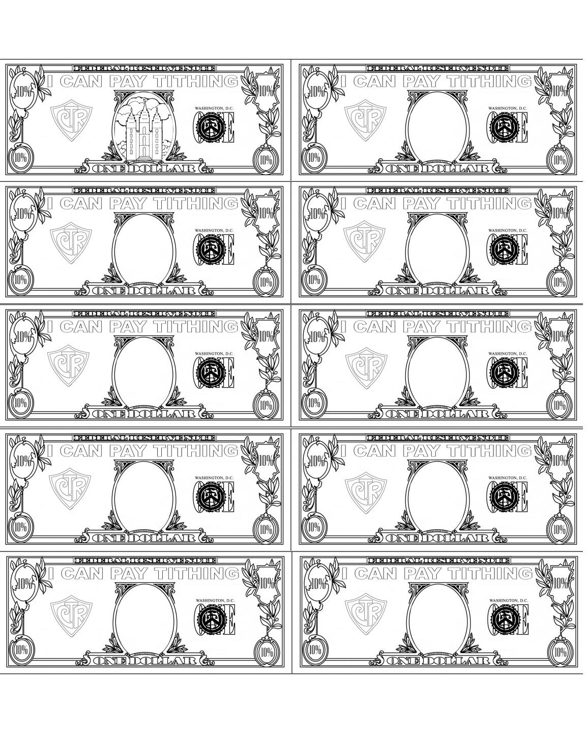 Tithing Coloring Page Lds Primary Lessons Tithing Lesson Tithing