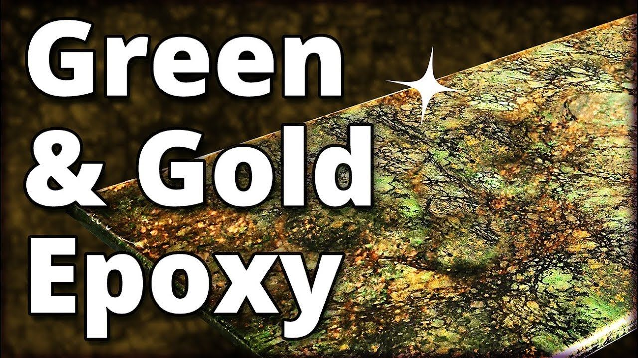 Make Green And Gold Granite With Epoxy Stone Coat Countertops