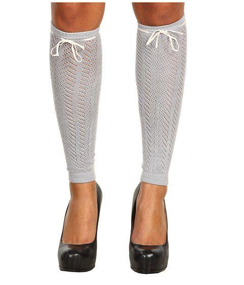 Betsey Johnson Cozy Pointelle Leg Warmer Light Heather Grey - for under boots