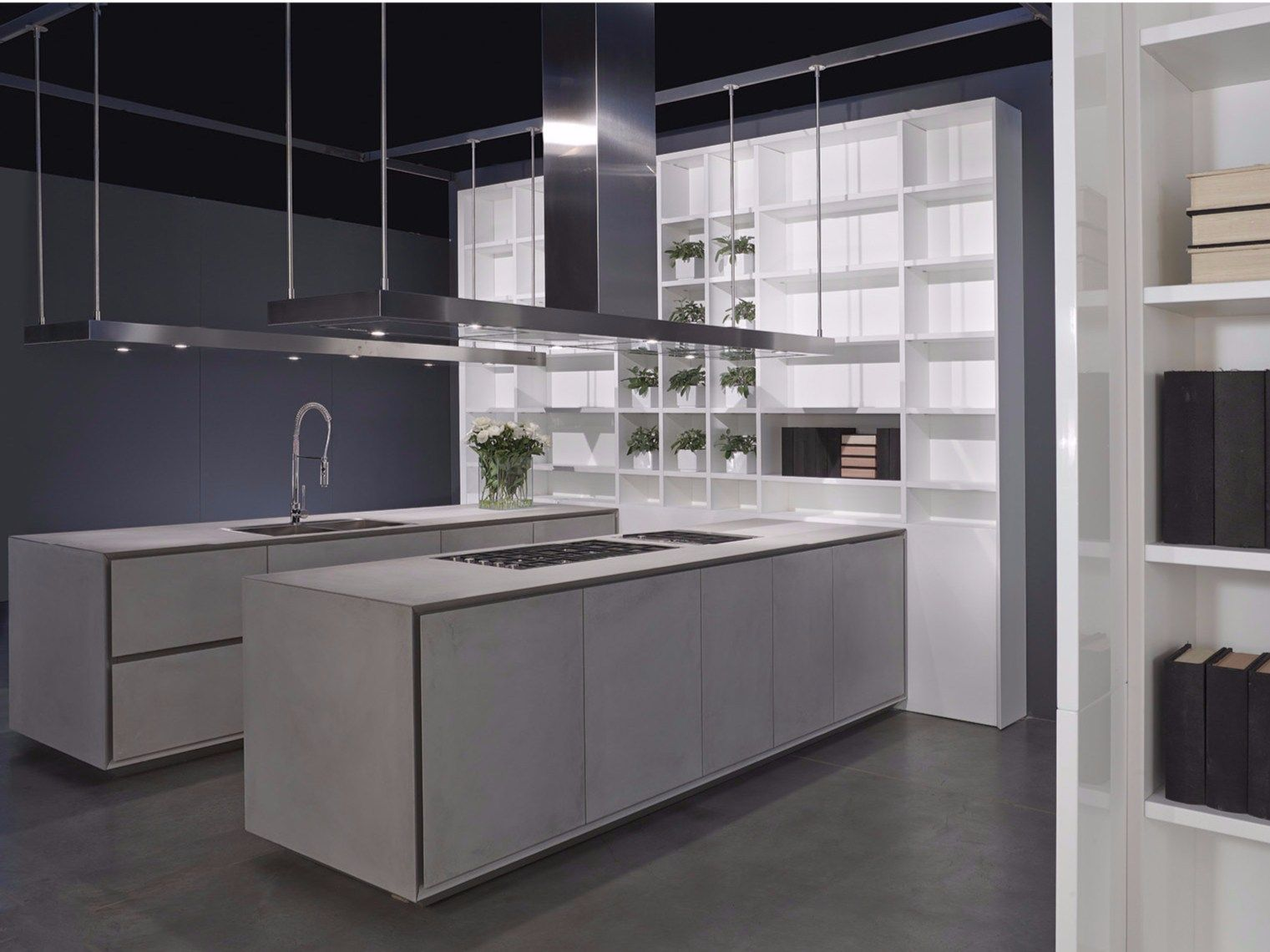 Cement kitchen with island ONE | Kitchen - RIFRA | kitchen ...