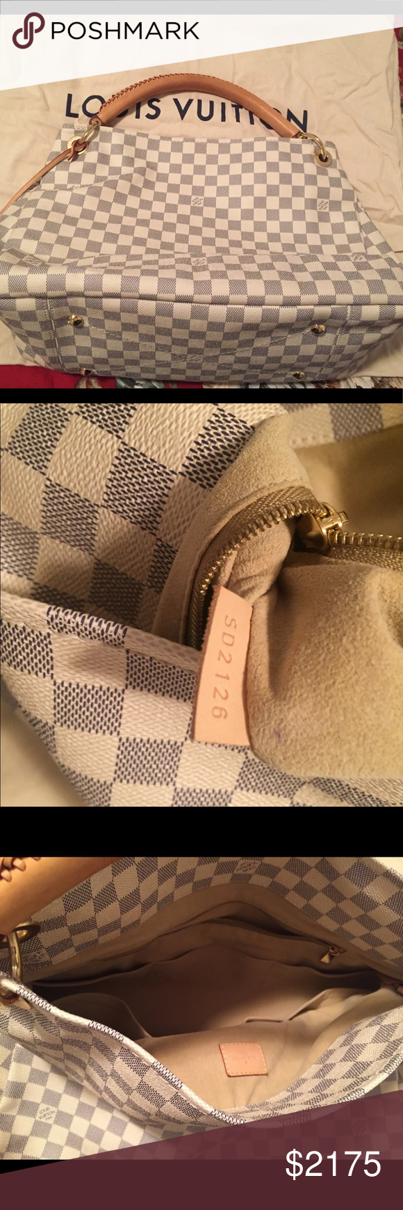 a557bbb7590 Spotted while shopping on Poshmark  Authentic Louis Vuitton Demier Azure ARTSY  MM bag!