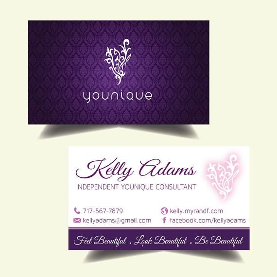 younique business cards elegant younique personalized business card younique custom business card - Younique Business Cards
