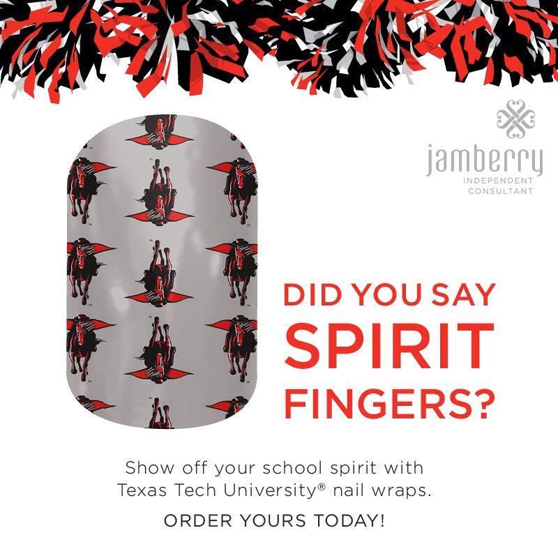 #TexasTechRaidersJN #JamberryCollegiate #JamberryNailWraps