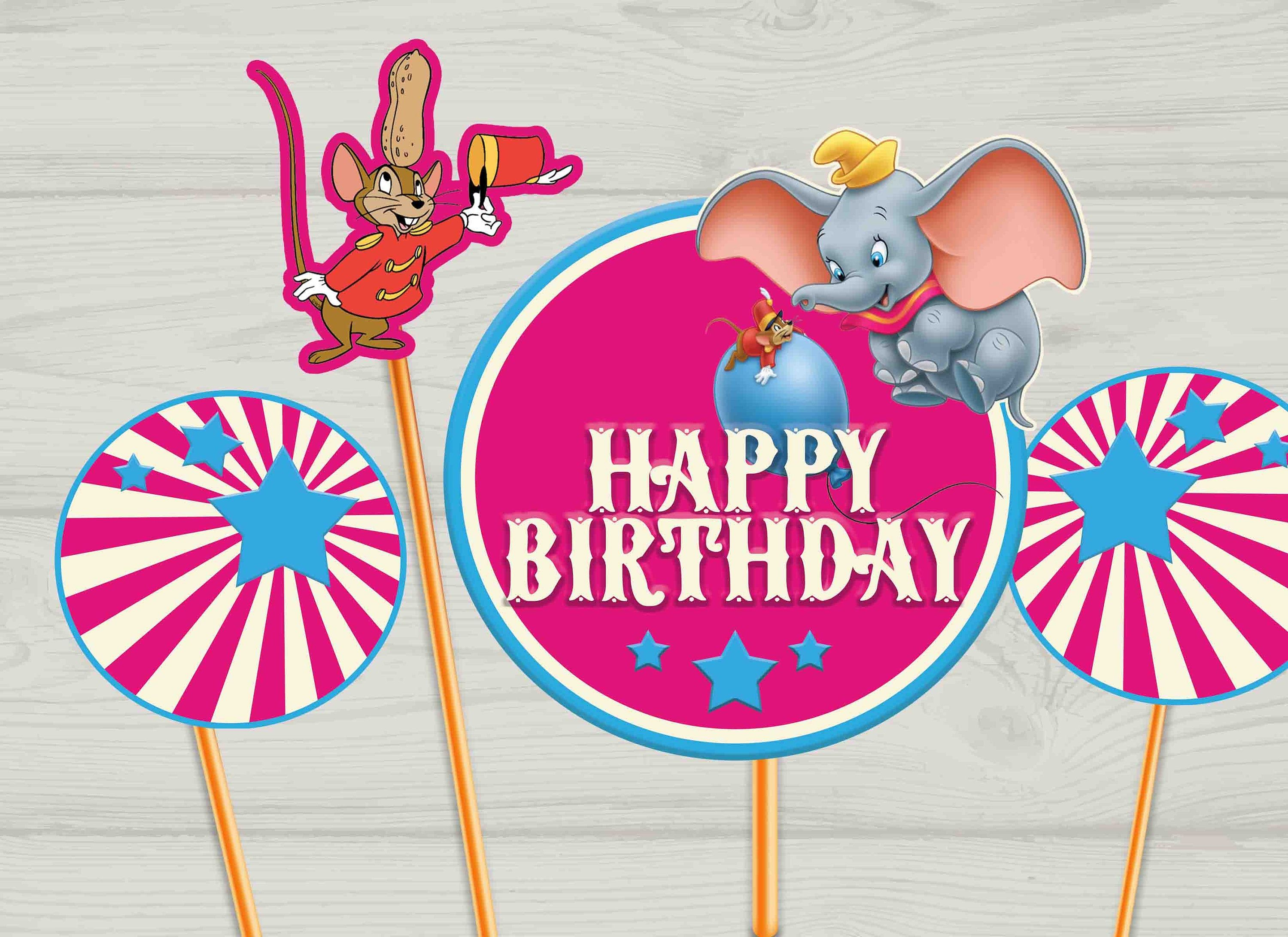 Dumbo Centerpieces Pink Dumbo Dumbo Birthday Dumbo Decorations Digital Files Small Centerpieces Large Centerpiece Design Personalized