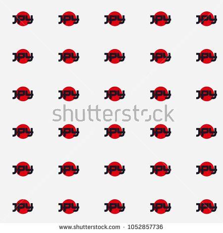 Japan Symbol Pattern Seamless Yen Currency Symbol Jpy Japan
